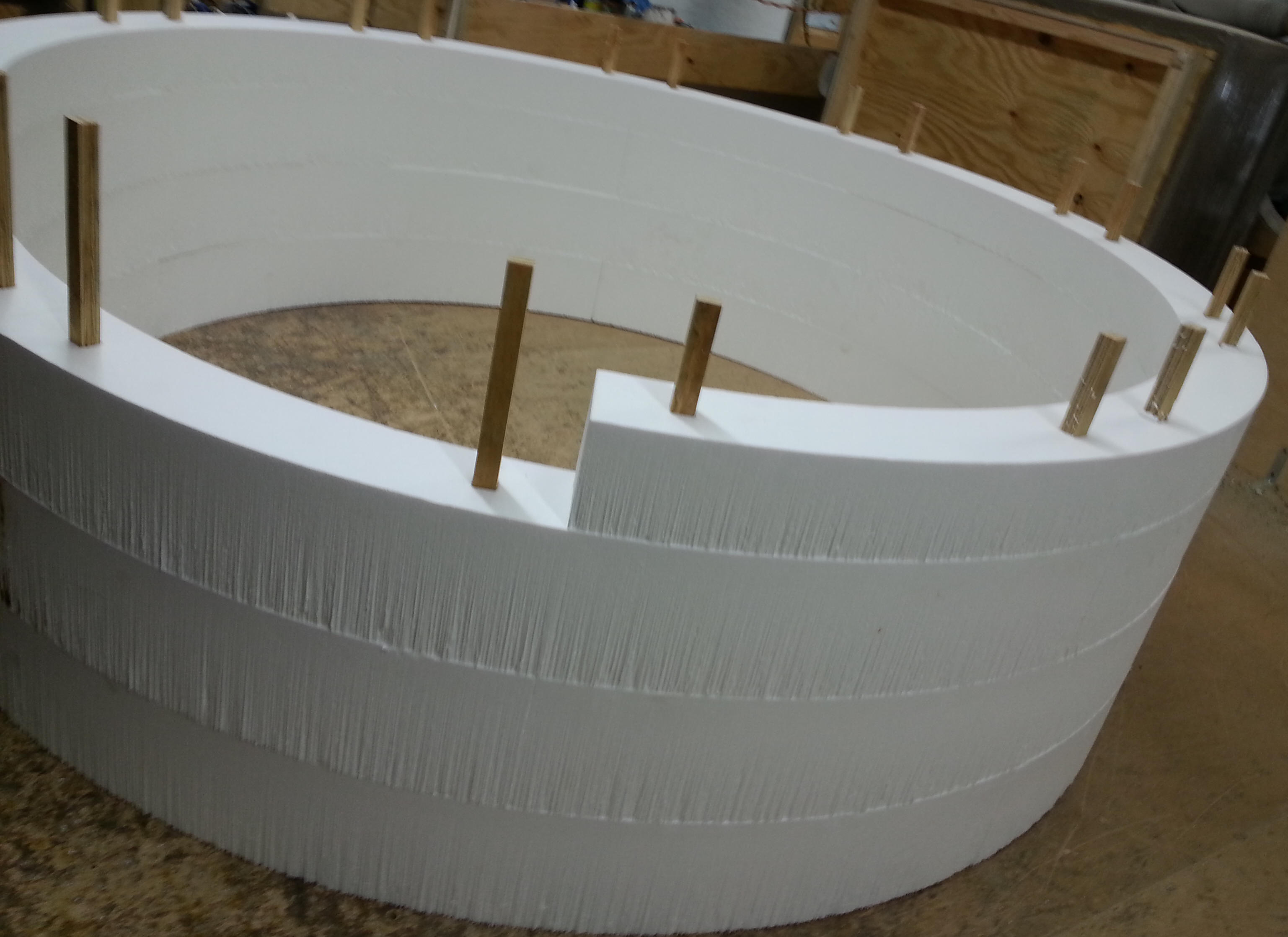 Styrofoam polystyrene arts and crafts foam for Styrofoam block walls