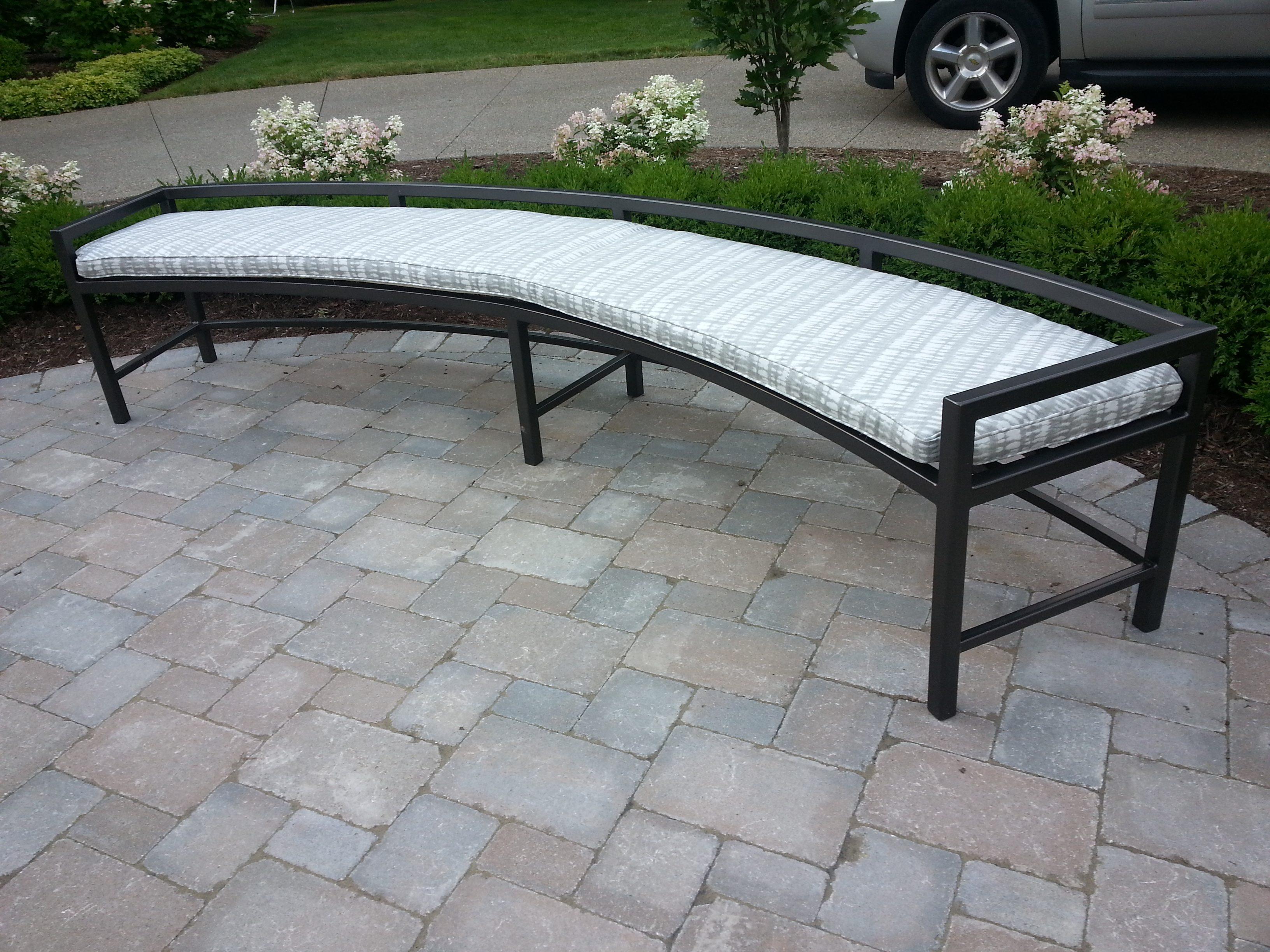 Outdoor foam bench cushion