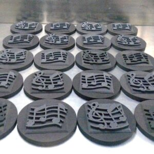 C40 acoustic circle with music notes