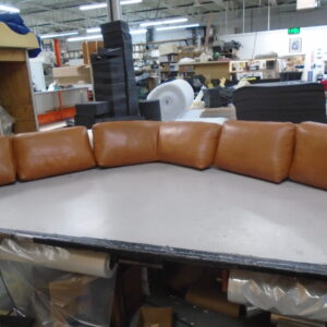 Leather cover back cushion