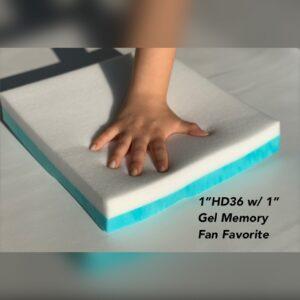 Medium High Density with Memory Foam