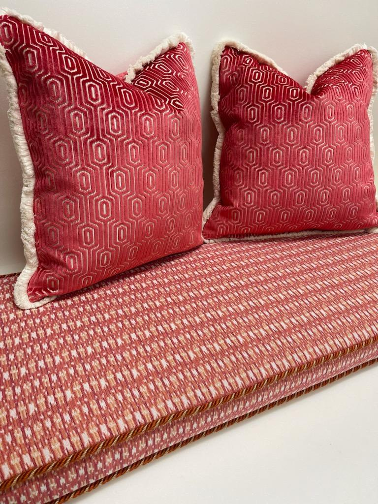 Bench Foam Cushion with Pillow
