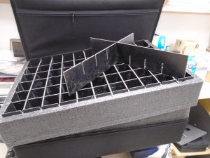 Suite Case With Plastic Dividers