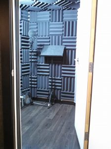 Vocal Booth with acoustic foam