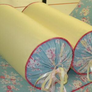 bed size round bolsters with fabric