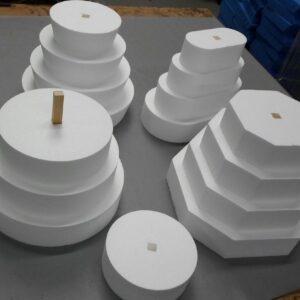 polystyrene cakes