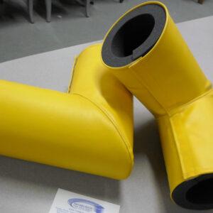 yellow pole bumper vinyl