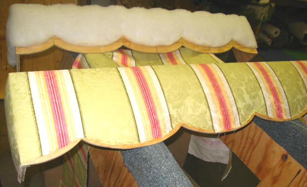 how to upholster cornice 1