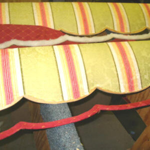 how to upholster cornice 2