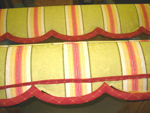 how to upholster cornice 3