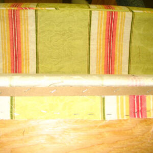 how to upholster cornice 4