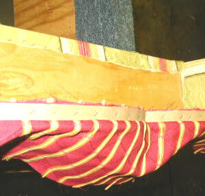 how to upholster cornice 5