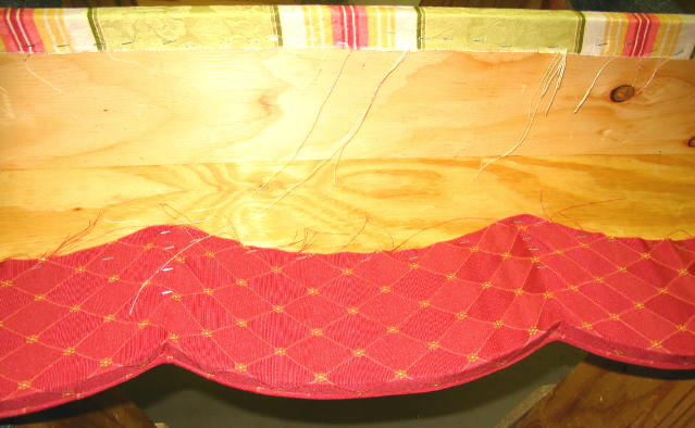 how to upholster cornice 6