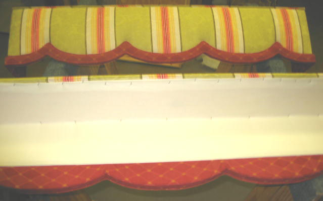 how to upholster cornice 7