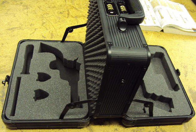foam case with guns