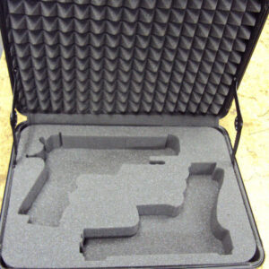 charcoal firm foam case for guns