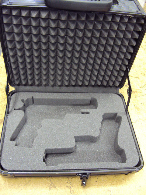 charcoal firm foam case for guns