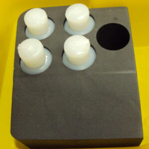 foam case with holes