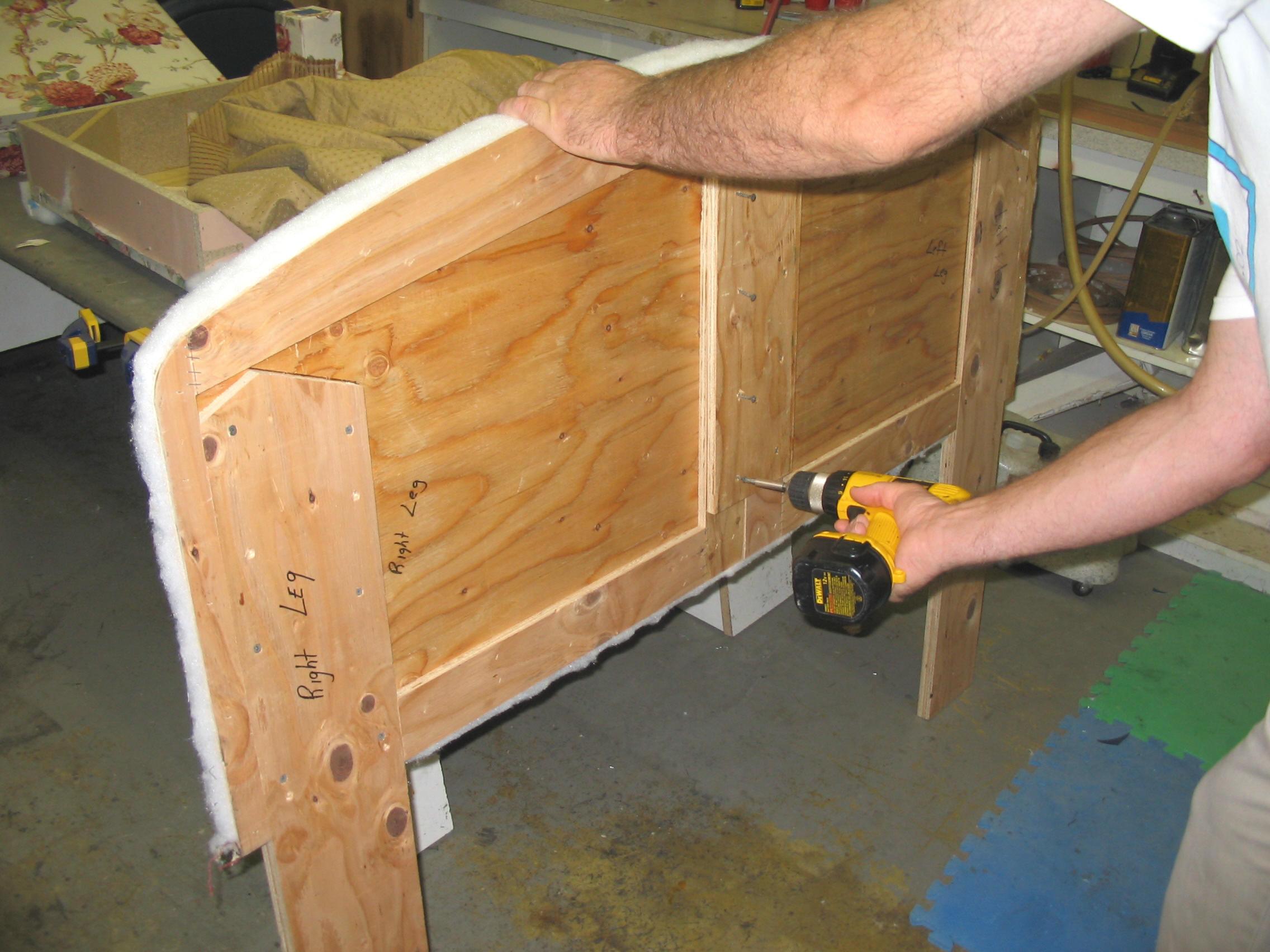 foam headboard back side