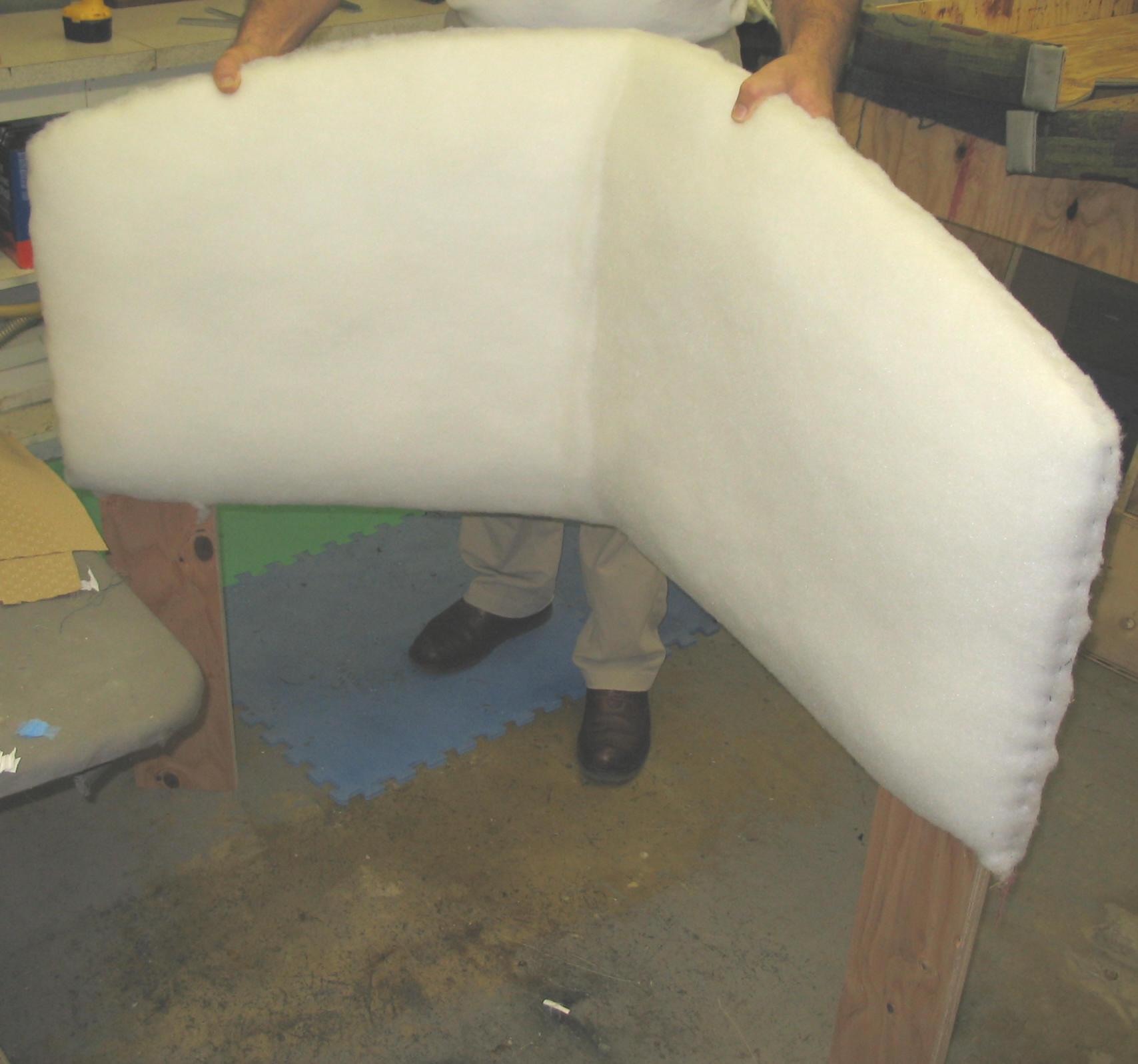 foam headboard folded
