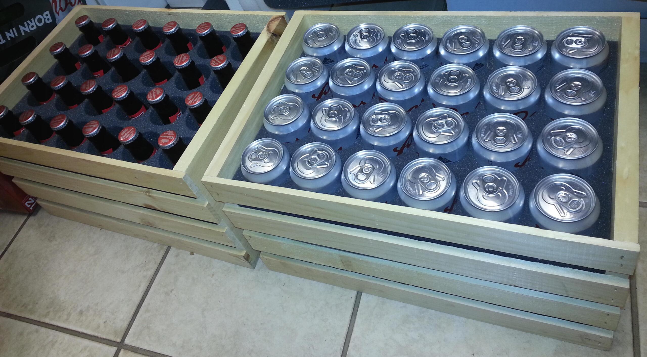 foam packaging bottle cans