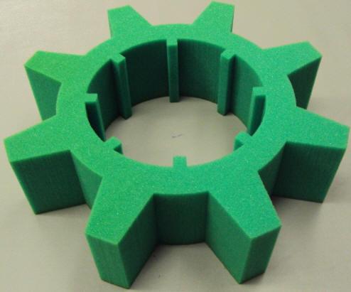green foam packaging