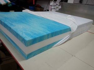 "2"" thick Memory Top and Bottom With Premium Medium Foam Core"