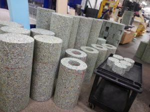 Rebounded foam tubes