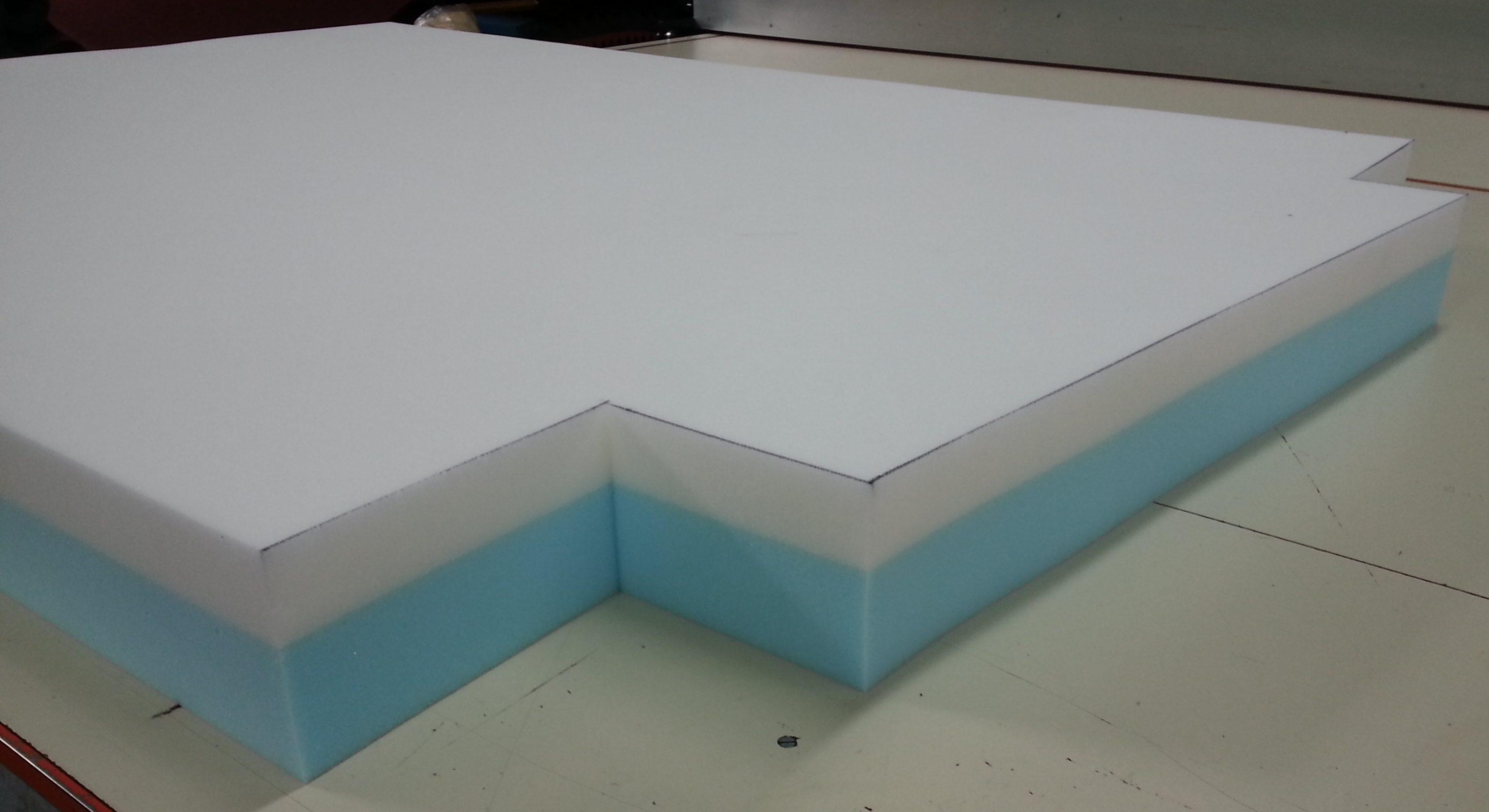 Cut Off Corner Foam Mattress