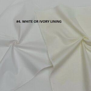 White & Ivory Lining