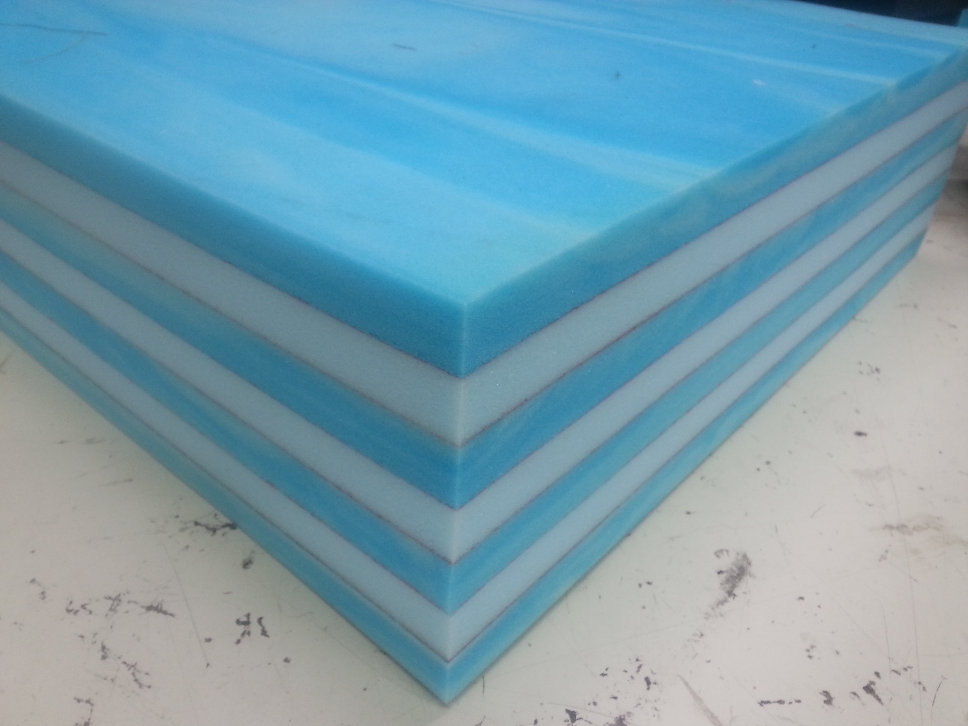 memory and firm foam layers