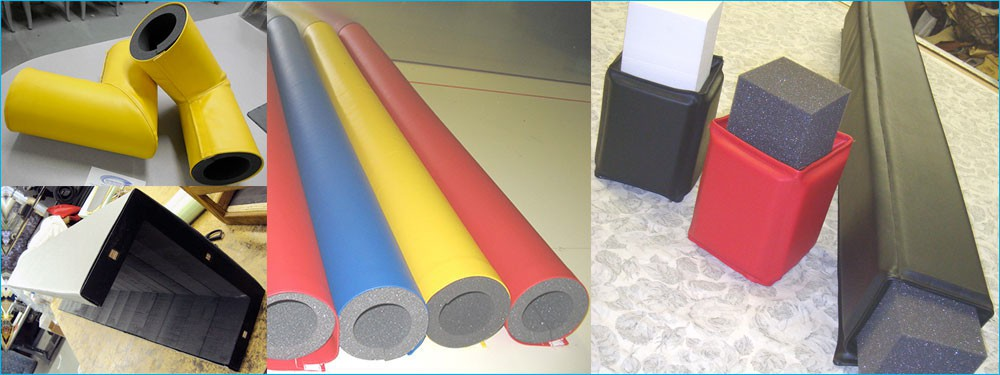 Foam Pole Bumpers with Vinyl
